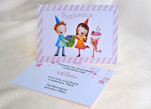 Pozivnice za rođendan. Pozivnice za venčanje, rođendane, krštenja, žurke, školske svečanosti, poslovne, novogodišnje. Media Centar, Invita Leskovac